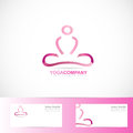 Yoga meditation 3d logo Royalty Free Stock Photo