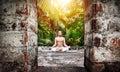 Yoga meditation in India Royalty Free Stock Photo
