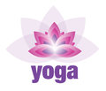 Yoga and Meditation Lotus Flower Logo Royalty Free Stock Photo