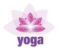 Yoga and Meditation Lotus Flower Logo Royalty Free Stock Photo