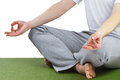 Yoga meditation pose. Royalty Free Stock Photo