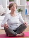 Yoga meditation training Royalty Free Stock Photo