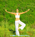 Yoga outdoor Royalty Free Stock Photo