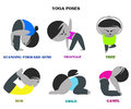Yoga poses and names cartoon background