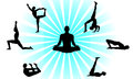 Yoga poses set i have created vector form of Royalty Free Stock Photo
