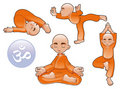 Yoga Positions Royalty Free Stock Photo