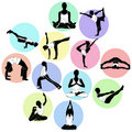 Yoga positions vector Stock Photography