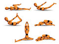 Yoga postures Royalty Free Stock Images