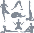 Yoga postures Royalty Free Stock Photography