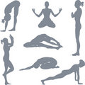 Yoga postures Royalty Free Stock Photo