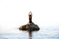 Yoga In The Sea Royalty Free Stock Images