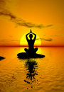Yoga at Sunset Royalty Free Stock Image