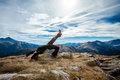 Yoga in tatry mountains beautiful panorama czerwone wierchy cervene vrchy Stock Photos