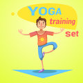 Yoga Training Set Royalty Free Stock Photo