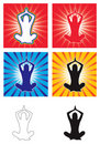 Yoga vector Stock Image