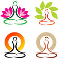 Yoga vector illustration of logos Stock Images