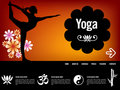Yoga website template Royalty Free Stock Image