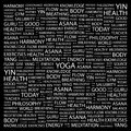 Yoga word cloud concept illustration wordcloud collage Royalty Free Stock Images