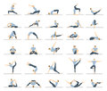 stock image of  Yoga workout for men set.