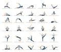 Yoga workout for men set.