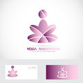 Yoga zen meditation logo Royalty Free Stock Photo