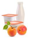 Yogurt and apricot