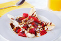 Yogurt banana split Royalty Free Stock Images
