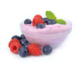 Yogurt  with berry Royalty Free Stock Photos