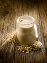 Yogurt with cereals Royalty Free Stock Images