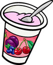 Yogurt Clip Art Cartoon Illust...