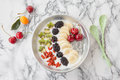 Yogurt with fresh fruits Royalty Free Stock Photo