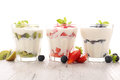 Yogurt with fruit Royalty Free Stock Photo