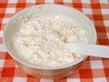 Yogurt with oat flakes Stock Images