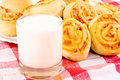 Yogurt and pastry Stock Photos