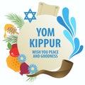 Yom Kippur decorative symbol Royalty Free Stock Photo