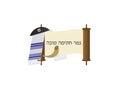 Yom Kippur Jewish fast day Greeting banner