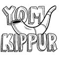 Yom Kippur Jewish holiday sketch Royalty Free Stock Photos