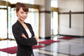 Yong pretty Asian business woman Royalty Free Stock Photography