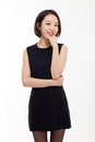 Yong pretty Asian business woman Stock Images