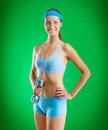 A yong sportgirl Royalty Free Stock Images