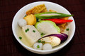 Yong Tau Fu. elicious Asian Chinese cuisine Royalty Free Stock Images