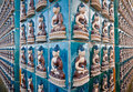 Yong an temple buddha tiles in shanyin benevolent voice pavilion in everlasting peace in beihai park beijing Royalty Free Stock Photos