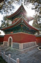 Yong an temple small pavilion in buddhist of everlasting peace in beihai park beijing china Royalty Free Stock Photos