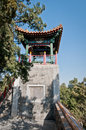 Yong an temple small pavilion in buddhist of everlasting peace in beihai park beijing china Royalty Free Stock Images