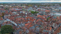 York england aerial view from the top of minster Royalty Free Stock Image