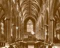 York Minster Altar with West Window sepia tone Royalty Free Stock Photo
