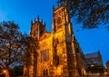 York minster cathedral in the evening is the of england and is one of the largest of its kind in northern europe Stock Images