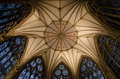 York minster chapter house ceiling the and windows completed ad in uk Stock Photos