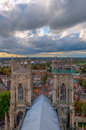 York minster england aerial view towards city centre Royalty Free Stock Photography