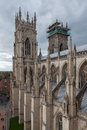 York minster england view from roof top Stock Images